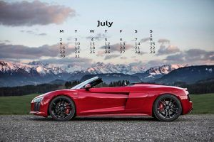 July Desktop Calendar