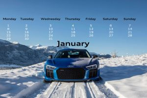 January 2018 Audi Mark Motors of Ottawa desktop calendar